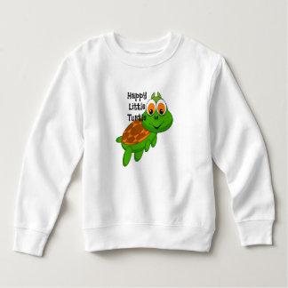 För lycklig för sköldpaddatröja lite ANPASSADE T Shirt