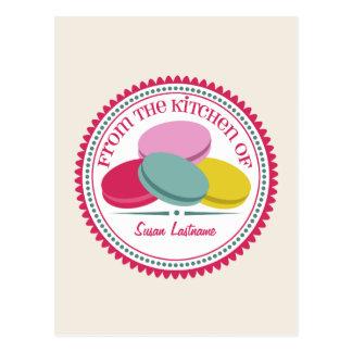För Macarons för fyra fransk vykort recept