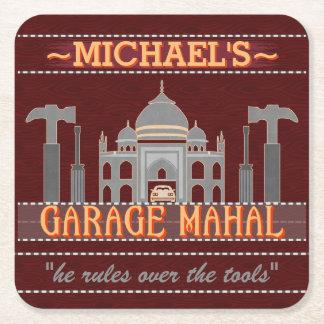 För Mahal för garage för mangrotta roligt namn V2 Underlägg Papper Kvadrat
