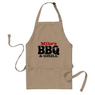 För manar Personalizable BBQ-förkläde Förkläde