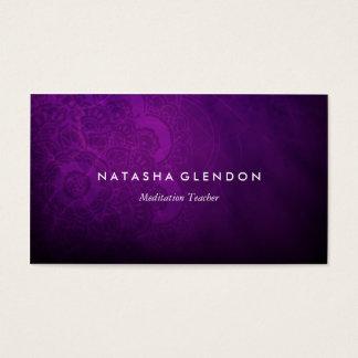För MandalaZen för mörk plommon purpurfärgad Visitkort