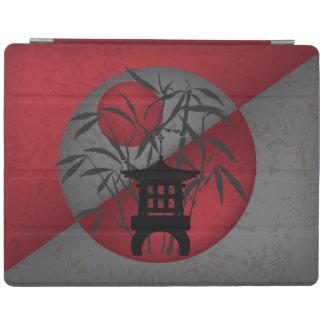 För månekortkort för grå bambu röd pagoda iPad skydd