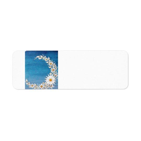 För måneretur för daisy växande Addresss etikett Returadress Etikett
