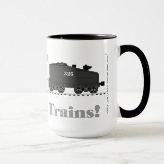 För många rörliga tåg mugg