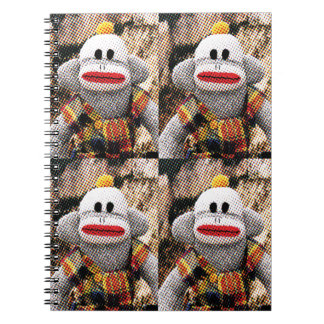 För många SockMonkeys Anteckningsbok Med Spiral