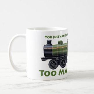 För många tåg! Antikvitet Kaffemugg