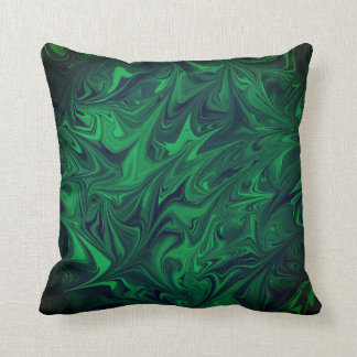För marmorabstrakt för smaragden kudder mörk kudde