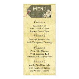 för masonburk för vintage lantlig meny för bröllop
