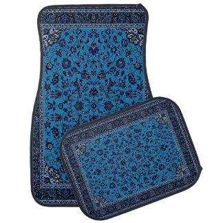 För mattaLook för blått orientalisk uppsättning Bilmatta