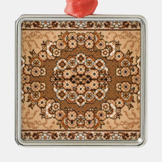 för mattamönster för brun beige vit orientalisk julgransprydnad metall