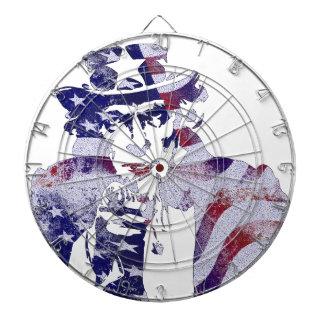 För medborgareflagga för Uncle Sam Amerika USA Piltavla