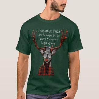 För meddelandeHipster för julgranar rolig hjort T Shirts