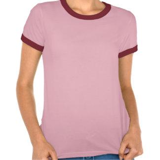 För MelangeRinger för Cursive brud rosa T-tröja