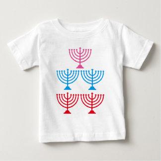 För menoragnistra för judar judisk candelabrum t shirts