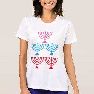 För menoragnistra för judar judisk candelabrum tee shirts