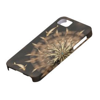 För metallMandala för åtta Koi fodral för telefon Barely There iPhone 5 Fodral