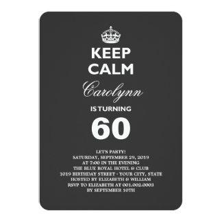 För milstolpefödelsedagsfest för behålla lugna 11,4 x 15,9 cm inbjudningskort