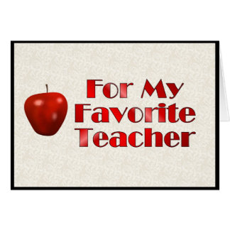 För min favorit- lärare hälsningskort