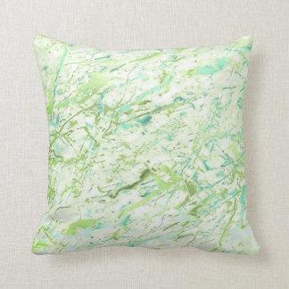 För Mintblått för abstrakt grönska livlig lyx för Kudde