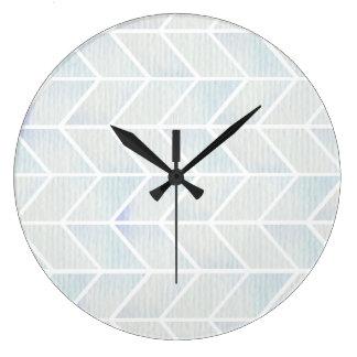 För mintsparre för modern vattenfärg pastellfärgat stor klocka