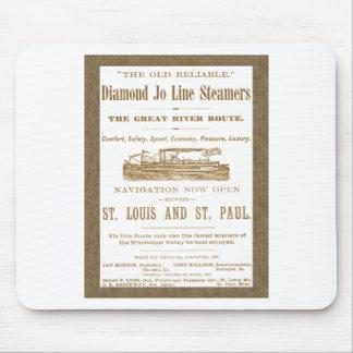 För Mississippi River för diamantJoe Steamer annon Musmatta
