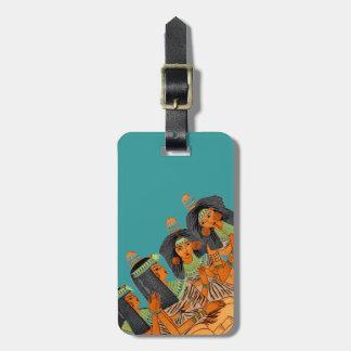 För modekvinnor för vintage egyptisk orange för bagagebricka