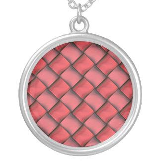 För moderunda för damer rött halsband för silver