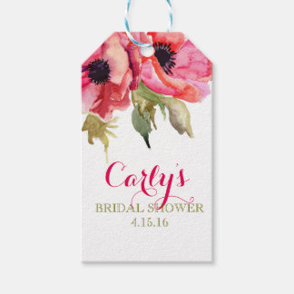 För möhippagåva för vattenfärg blom- märkre presentetikett