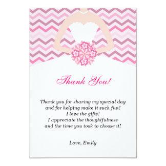 För möhippatack för sparre rosa kort 12,7 x 17,8 cm inbjudningskort