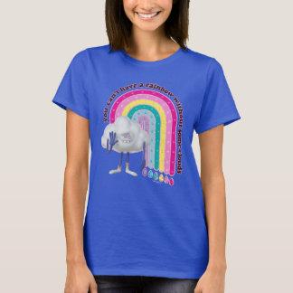 För molngrabb för troll   regnbåge t shirt