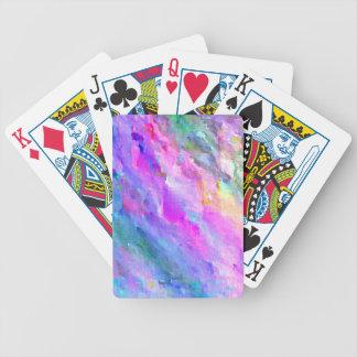 För Monet för ljusa pastellfärgade färger abstrakt Spelkort