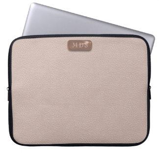 För Monogramrodnad för Faux rosa guld- laptop