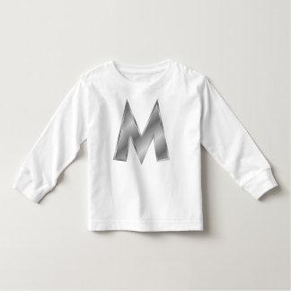 För Monogramsmåbarn för brev M T-tröja för Tee