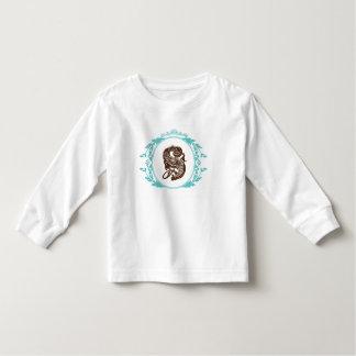För Monogramsmåbarn för brev S T-tröja för Tee Shirt