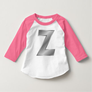 För Monogramsmåbarn för brev Z Raglan för sleeve Tshirts