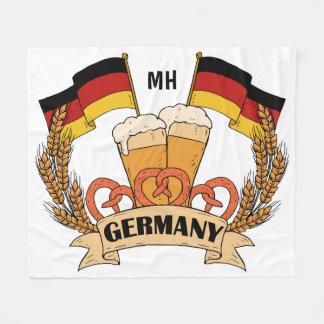 För monogramull för tysk öl beställnings- filtar