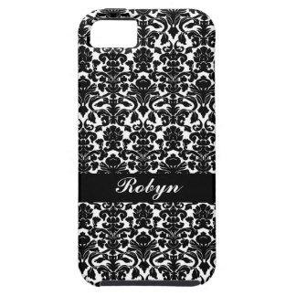 För mönsteranpassningsbar för svart vit personligt iPhone 5 Case-Mate skydd