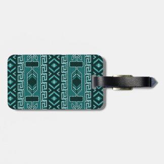 För mönsterbagage för svart turkos stam- Aztec Bagagebricka