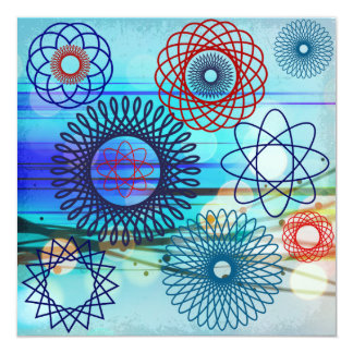 För mönsterblått för skraj Spirograph geometrisk Tillkännagivande