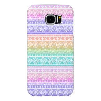 För mönstergalax S6 för stilfulla pastell Aztec Galaxy S5 Fodral