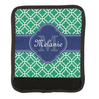 För mönstermarin för smaragd grön vit marockansk handtagsskydd