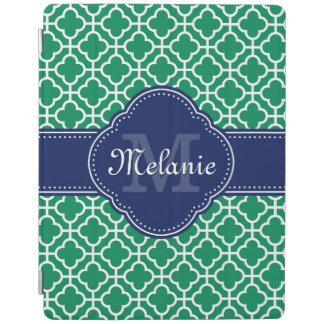 För mönstermarin för smaragd grön vit marockansk iPad skydd