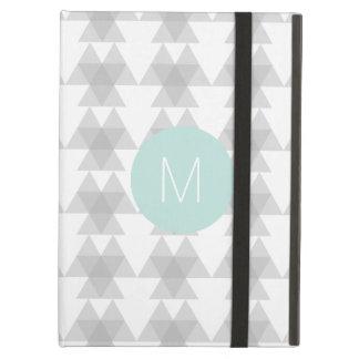 För mönsterMint för triangel stam- Monogram Fodral För iPad Air