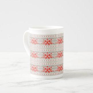 För mönsternordbo för shabby chic scandinavian ren bone china kopp