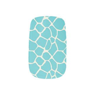 För mönsterslyna för giraff djur aqua) nagel art