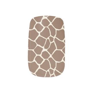 För mönsterslyna för giraff djur choklad) nagelkonst
