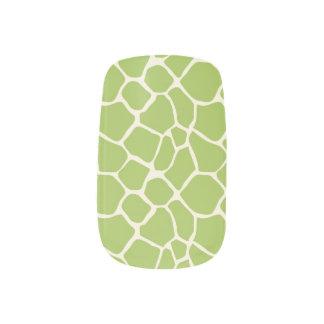 För mönsterslyna för giraff djur grönt för klistermärken för naglar