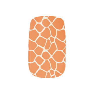 För mönsterslyna för giraff djur orange) klistermärken för naglar