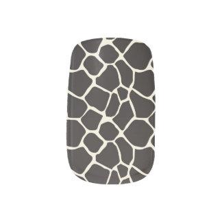 För mönsterslyna för giraff djur svart) nagel decaler