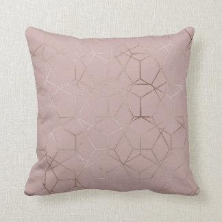 För mönstersolbränna för silver geometrisk kuddar